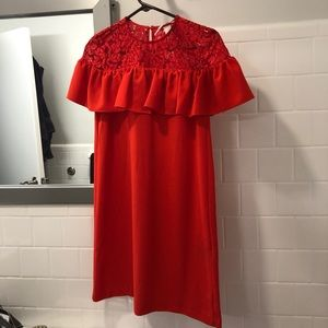 Fiery red H&M party dress